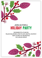 Festive Pinecone Invitation