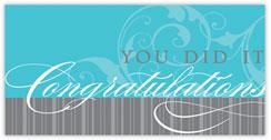Faint Flourish Congratulations Card