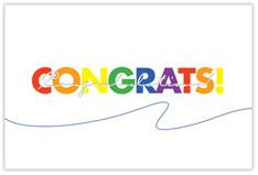 Colorful Congratulations Postcard