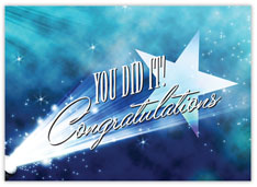 Spotlight Congratulations Card