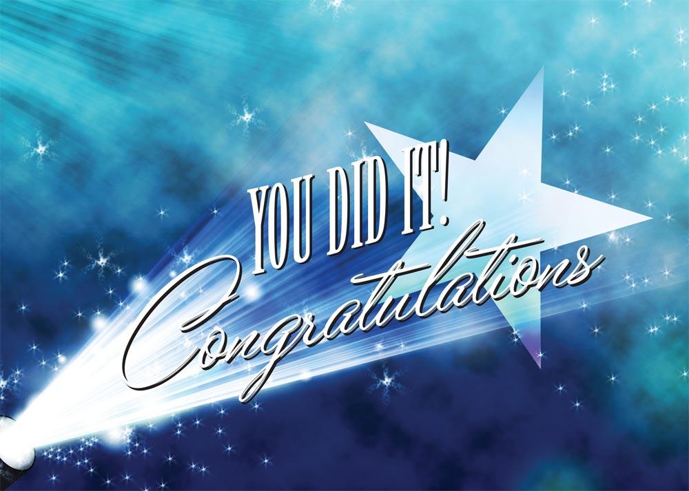 Spotlight Congratulations Card Achievement From Brookhollow