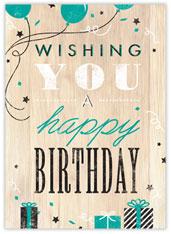 Rustic Wood Birthday Card