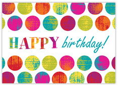Colored Dots Birthday Card