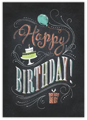 Colored Chalk Birthday Card
