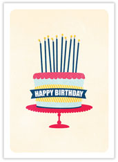 Party Cake Birthday Card