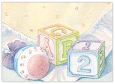 Baby Blocks Congratulations Card