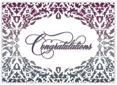 Damask Congratulations Card