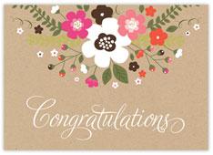 Rustic Floral Congratulations Card