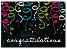 Chalkboard Confetti Congratulations Card