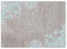 Natural Wood Wedding Congratulations Card