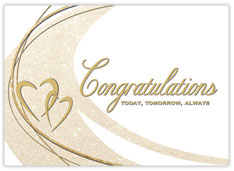 Hearts & Swirls Wedding Congratulations Card