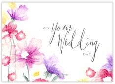 Watercolor Wedding Congratulations Card