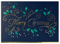 Deep Teal Merry Christmas