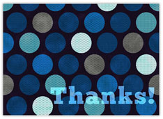 Dotted Blue Thanks