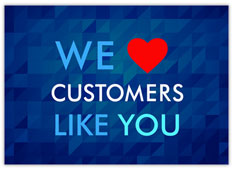 We Heart Our Customers