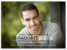 Modern Black & White Graduation