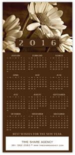 2016 Sepia Calendar Card