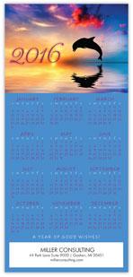 2016 Dolphin Calendar Card