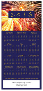 2016 Fireworks Calendar Card