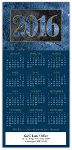 2016 Blue Marble Calendar Card