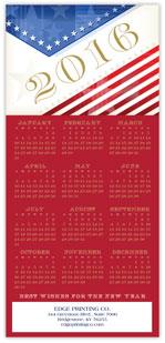 2016 Patriotic Calendar Card