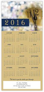 2016 Clock Calendar Card