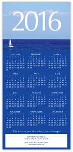 2016 Sailboat Calendar Card