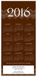 2016 Chevron Brown Calendar Card