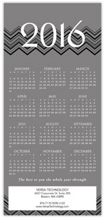 2016 Chevron Gray Calendar Card