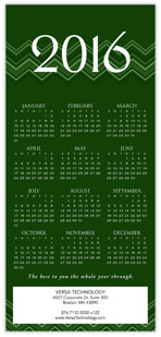 2016 Chevron Green Calendar Card