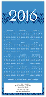 2016 Chevron Light Blue Calendar Card