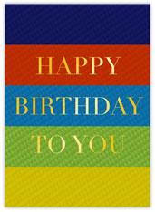 Color Block Happy Birthday