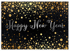 Burnished New Year Card