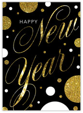 Swirly New Year Card