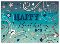 Teal Starburst Birthday