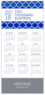Blue Lattice Calendar