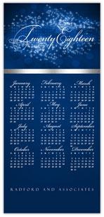 Feathery Blue Calendar