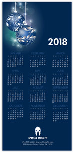 Brilliant Blue Ornaments Calendar