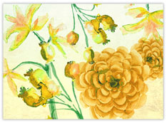 Marigold Watercolor Flowers