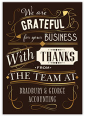 Grateful Business Thanks
