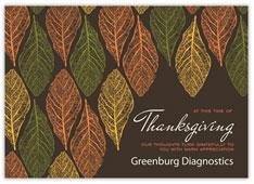 Printed Leaves Thanksgiving