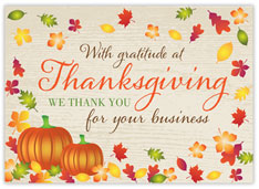 Woodgrain Business Gratitude
