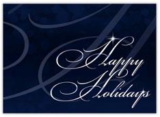 Elegant Happy Holidays Card
