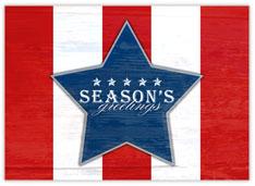 Patriotic Star Holiday Card