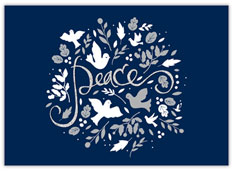 Doves and Peace Holiday Card