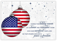 Words of Patriotism Holiday Card