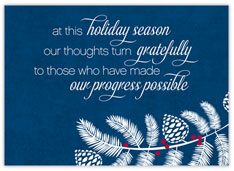 Being Grateful Holiday Card