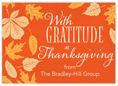 Autumn Gratitude Thanksgiving Card