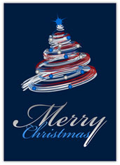 Swirl Tree Merry Christmas Card