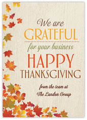 Business Imprint Thanksgiving Card